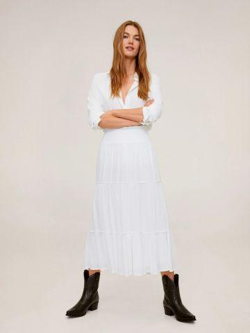 חצאית מידי קומות עם מלמלה