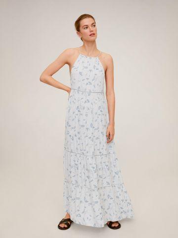 שמלת קולר מקסי בהדפס פרחים