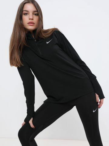 חולצת ריצה עם לוגו וצווארון גבוה Element