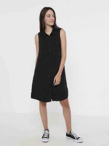 שמלת מכופרת ללא שרוולים