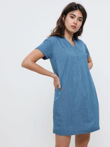 שמלת מיני דמוי ג'ינס