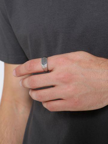 טבעת כסף משושה / גברים