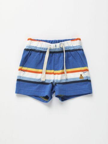 מכנסיים קצרים בהדפס פסים / 0-24M