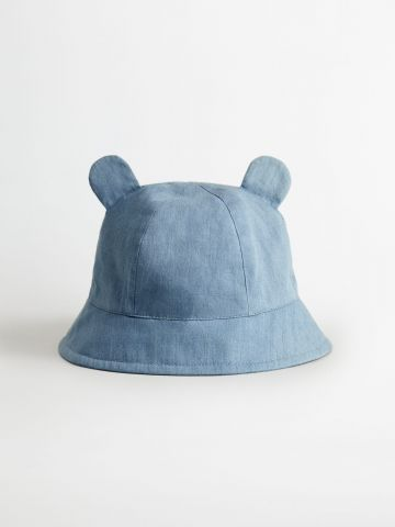 כובע באקט ג'ינס עם אוזניים / בייבי