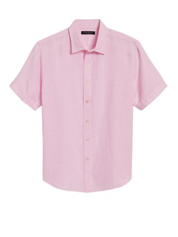 חולצת פשתן מכופתרת / גברים