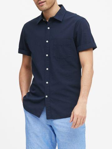 חולצה מכופתרת עם שרוולים קצרים Slim של BANANA REPUBLIC