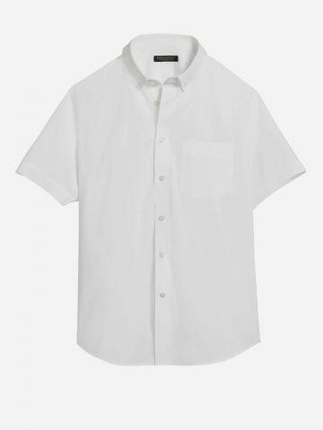חולצה מכופתרת עם שרוולים קצרים Slim / גברים של BANANA REPUBLIC