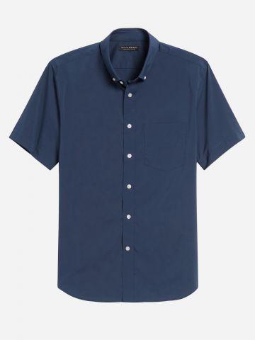 חולצה מכופתרת עם שרוולים קצרים Slim / גברים