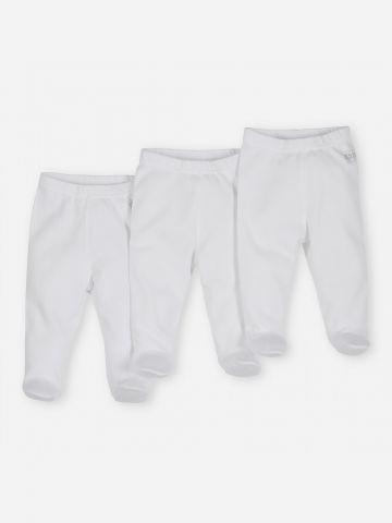 מארז 3 מכנסיים עבים עם רגליות / 0-12M