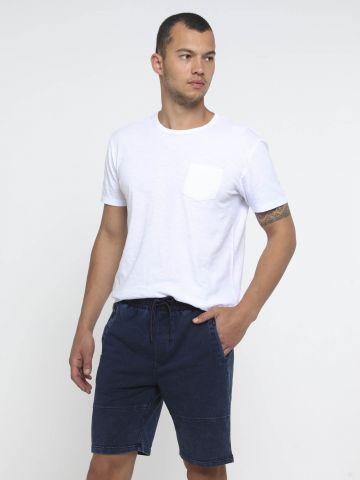 ג'ינס קצר עם גומי