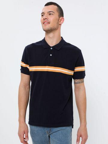 חולצת פולו עם דוגמת פס
