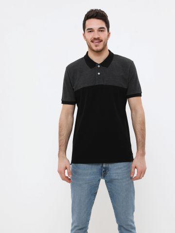 חולצת פולו שני צבעים