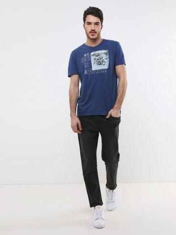 ג'ינס Jogger עם גומי ושרוך במותן