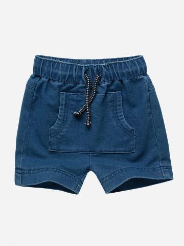 מכנסיים קצרים דמוי ג'ינס / 12M-3Y
