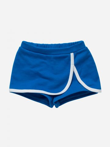 מכנסי חצאית קצרים עם שוליים מודגשים / 3M-3Y
