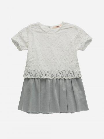 שמלת מיני עם תחרה / 3M-3Y