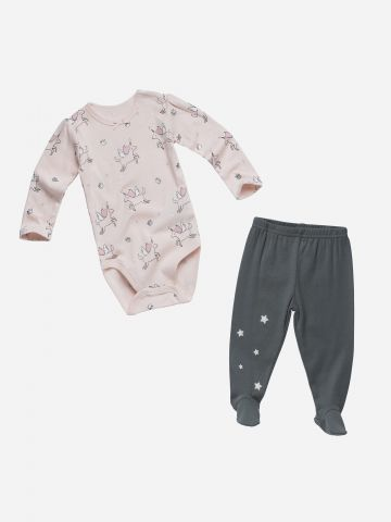 סט בגד גוף חד קרן ומכנסיים / N.B-12M