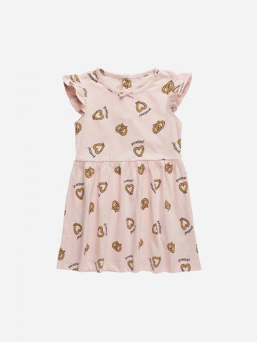 שמלה בהדפס עם פפיון / 3M-3Y