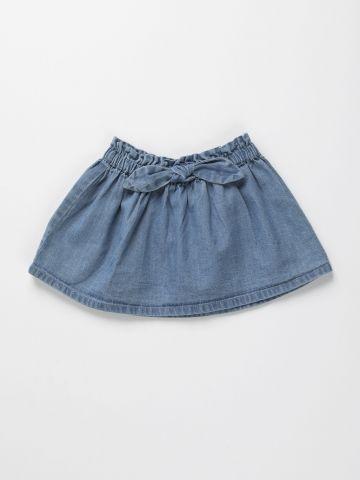 חצאית ג'ינס עם פפיון / 3M-3Y