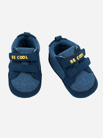 סניקרס דמוי ג'ינס עם סקוצ'ים Be Cool / בייבי בנים