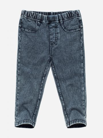 מכנסי טרנינג דמוי ג'ינס / בייבי בנות