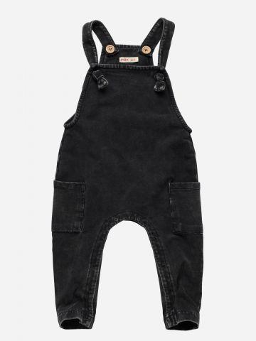 אוברול דמוי ג'ינס עם כיסים / 3M-3Y
