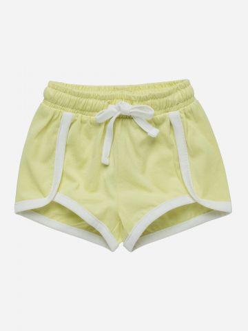 מכנסי טרנינג קצרים עם שוליים מודגשים / 3M-3Y