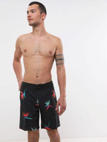 מכנסי בגד ים בהדפס פרחים מולטי קולור