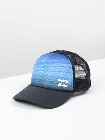 כובע מצחייה בהדפס שתי וערב ולוגו / גברים
