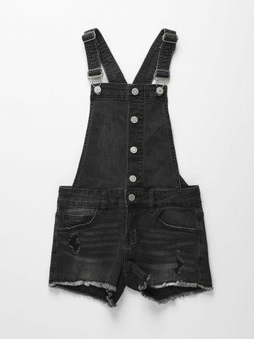 אוברול ג'ינס ווש עם פרנזים / בנות