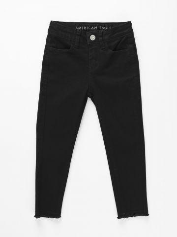 ג'ינס ארוך עם פרנזים בסיומת