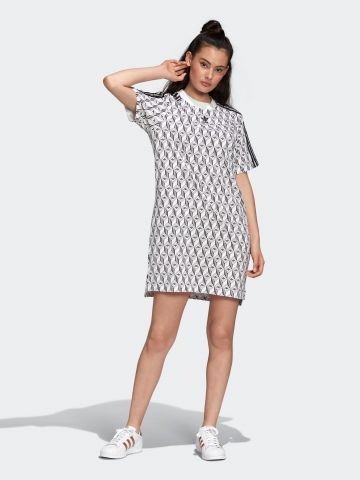 שמלת טי שירט מיני בהדפס לוגו