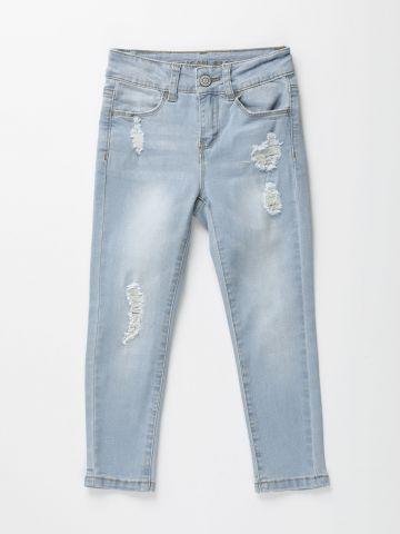 מכנסי ג'ינס סקיני ארוכים עם קרעים / בנות של AMERICAN EAGLE