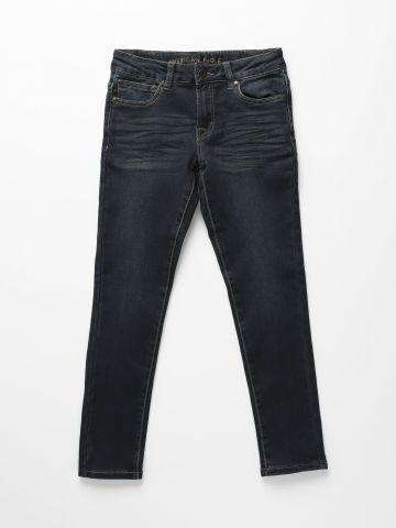 ג'ינס סקיני בשטיפה כהה Supper Skinny/ בנות
