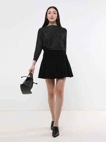 חצאית מיני סרוגה