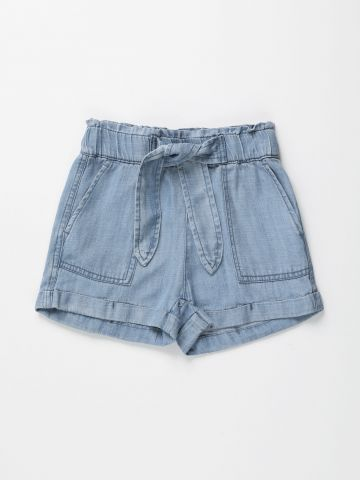 מכנסי פייפרבאג קצרים עם כיסים / בנות