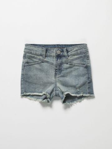 מכנסי ג'ינס קצרים אסיד ווש / בנות של AMERICAN EAGLE