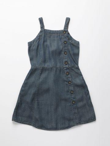 שמלה דמוי ג'ינס עם כפתורים / בנות