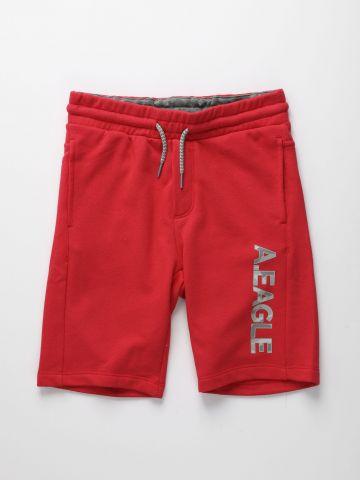 מכנסי טרנינג ברמודה עם לוגו / בנים