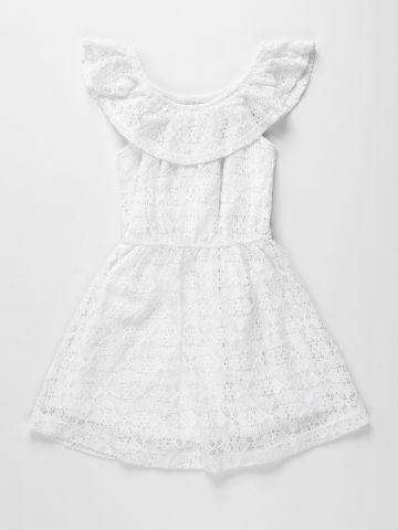 שמלת תחרה מתרחבת אוף שולדרס / בנות של AMERICAN EAGLE