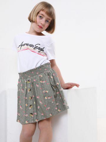 חצאית מיני בהדפס פרחים
