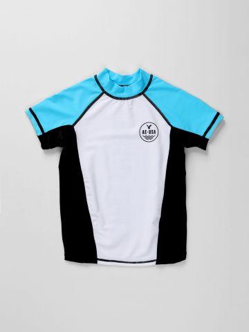 חולצת בגד ים קולור בלוק / בנים