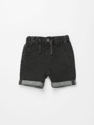 מכנסי ברמודה דמוי ג'ינס / 3M-3Y