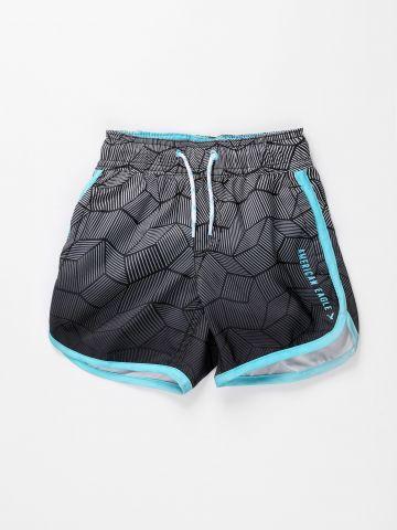 מכנסי בגד ים בהדפס אבסטרקטי / בנים