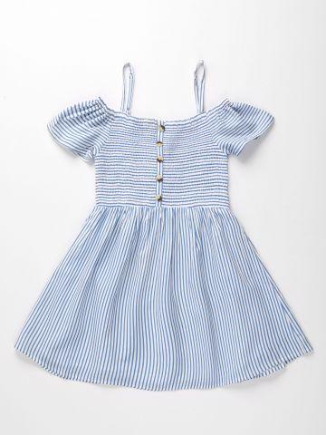 שמלת קולד שולדרס בהדפס פסים / בנות של AMERICAN EAGLE