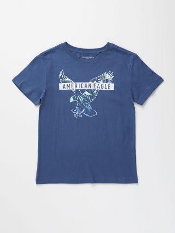 חולצת טי שירט עם הדפס לוגו המותג / בנים