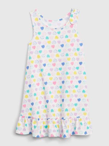שמלה בהדפס לבבות מולטי קולור/ בייבי בנות
