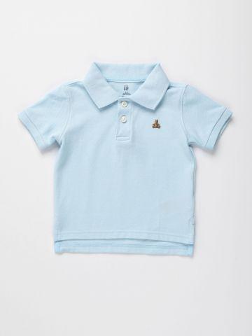 חולצת פולו עם רקמת דובי / 12M-5Y