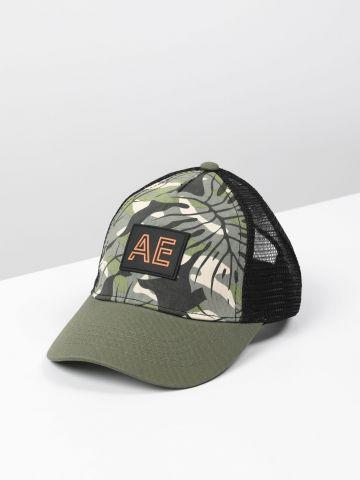 כובע מצחייה בהדפס טרופי / בנים