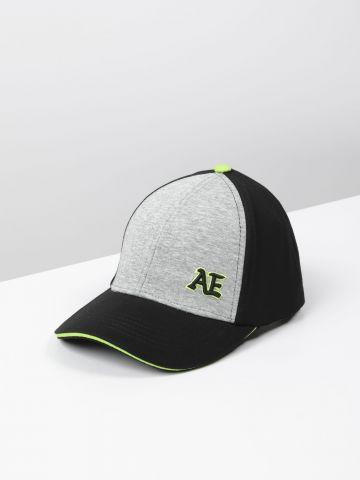 כובע מצחייה קולור בלוק עם לוגו / בנים